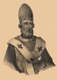 Retrato de San Dámaso I papa