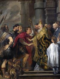 Retrato de San Ambrosio de Milán
